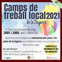 Inici inscripcions Camps de Treball Local 2021
