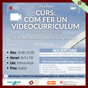 Últim dia per inscriure's al curs: com fer un videocurriculum