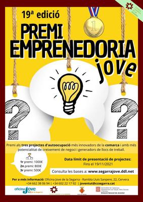 🔔 19 a edició del PREMI EMPRENEDORIA JOVE