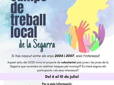 L'Oficina Jove de la Segarra treballar per tirar endavant els camps de treball local aquest estiu