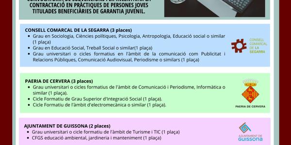 12 places de treball de diferents perfils per a joves de la comarca