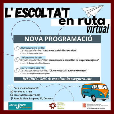Noves dates de l'Escolta't en Ruta virtual