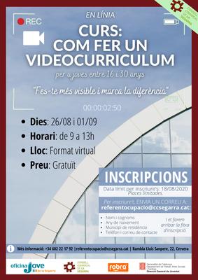 Obertes les inscripcions pel curs: Com fer un videocurriculum.